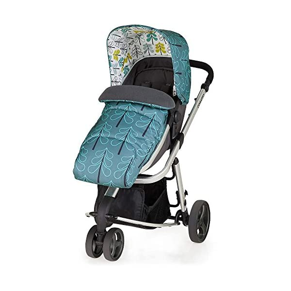 Cosatto Giggle Mix Pram and Pushchair in Fjord with Hold Car seat & Raincover Cosatto Includes - Pram & Pushchair, Hold Car seat, Adaptors, Apron and Raincover Suitable from birth up to 15kg, One unit transforms from newborn pram mode into pushchair mode. Space saving. No need to buy separates. 'In or out' facing pushchair seat lets them bond with you or enjoy the view. 4