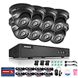 ANNKE H.264+ 16CH TVI 1080N CCTV DVR Recorder and 8*960P Security Dome Camera