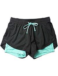 diseñador de moda d8138 41e96 Amazon.es: Pantalones cortos deportivos - Ropa deportiva: Ropa