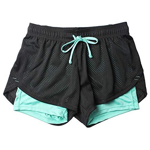 Fansi - Pantalones Cortos Deportivos para Mujer