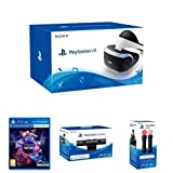 PSVR Headset + VR Worlds + Camera + Move Motion Twin Controller