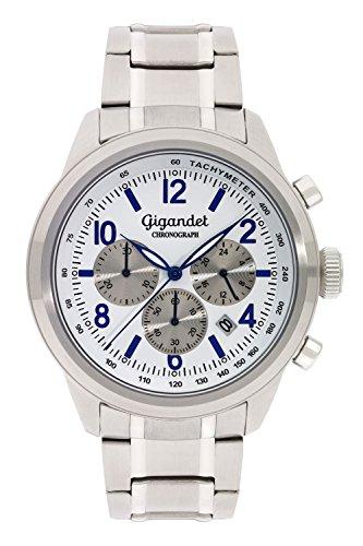 Gigandet Journey Orologio da Uomo Cronografo Analogico Quarzo Bianco Blu G25-005