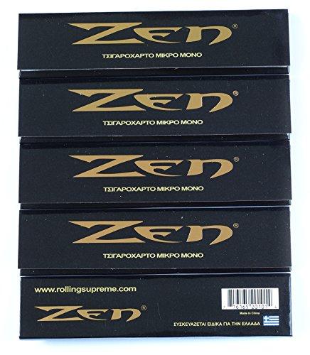 5 A terra x ZEN Original King size Hemp=160 cartine per sigarette documenti