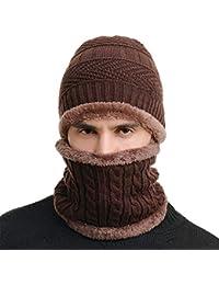 SWISSWELL Berretto Uomo per Inverno Caldo Berretto Uomo in Maglia con  Sciarpa Cappello Beanie Uomo e faf9d7514930