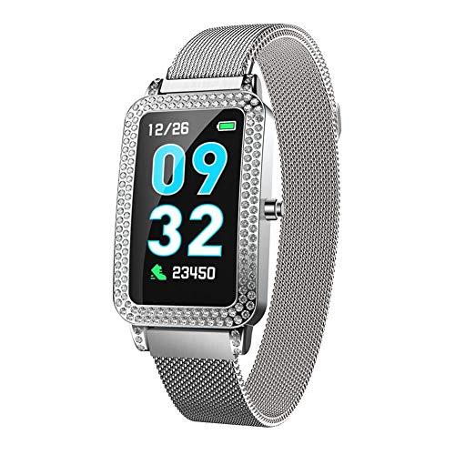 Pepional Damen Smart Armband G68 Sport Meter Herzfrequenz Blutdruck Strass IP67 Wasserdicht Caller ID Smart Watch Screen Caller Id