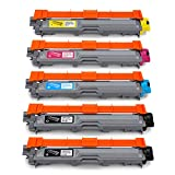 JARBO TN241 TN245 Compatible pour Brother TN-241 TN-245 Toner (2 Noire, Cyan, Magenta, Jaune) pour Brother DCP-9015CDW DCP-9020CDW HL-3140CW HL-3150CDW HL-3170CDW MFC-9140CDN MFC-9330CDW MFC-9340CDW