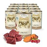 AniForte Katzenfutter Beef 12 x 400g für Katzen, Nassfutter ohne künstliche Vitamine und chemische Zusätze
