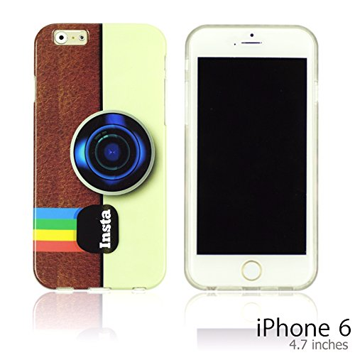 OBiDi - Designer Soft Case Cover / Housse pour Apple iPhone 6 / 6S (4.7 inch)Smartphone - Don't trust anyone Insta Camera