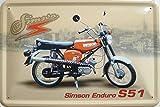 Blechschild 20x30cm - Simson Enduro S51