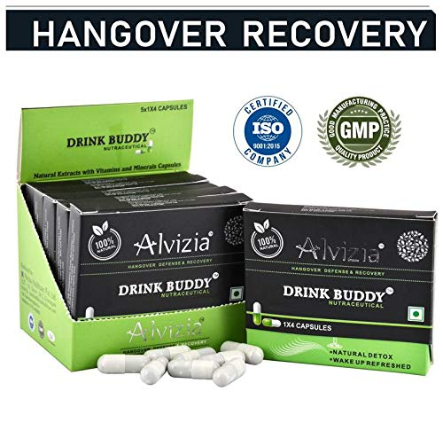 Alvizia's Drink Buddy for Hangover Prevention, Alcohol Metabolism and A Better Morning After - 20 Capsules