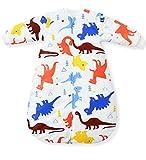 Fairy Baby langarm kleinkind schlafsack mit ärmeln baumwolle thermo baby Schlafsäcke 80 cm, Dinosaurier, ca. 3,5 Tog