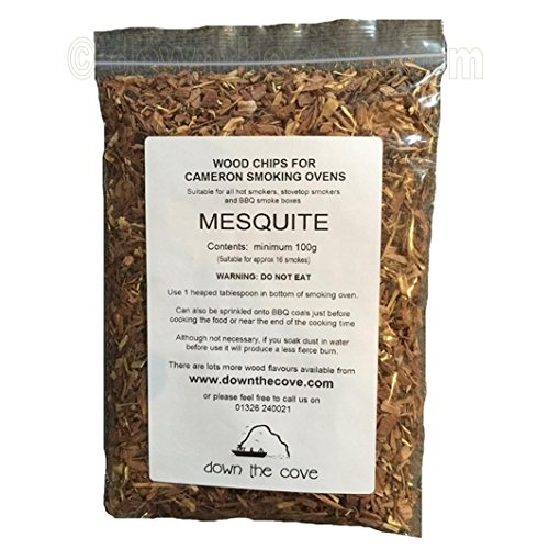 100g Mesquite Wood Chips / Wood Dust for Hot Smokers / Smoking Ovens / BBQ