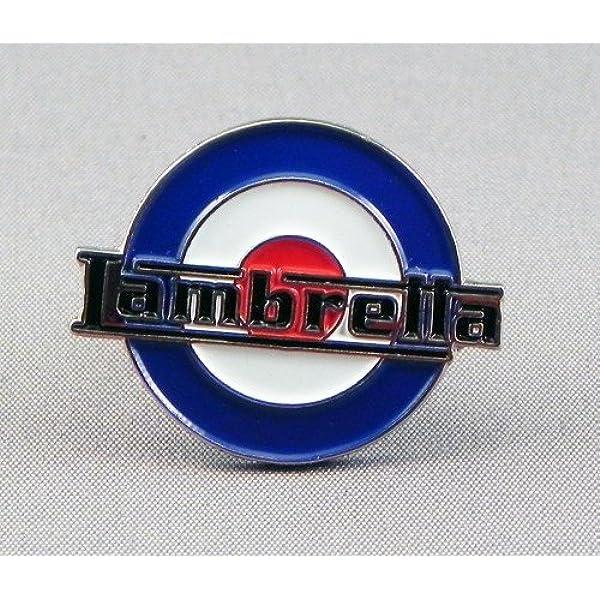 LAMBRETTA SCOOTER LIGHT BLUE//WHITE PIN BADGE NEW