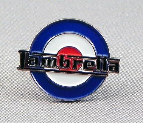 Broche en métal émaillé Motif Scooter Lambretta Mod RAF-Logo