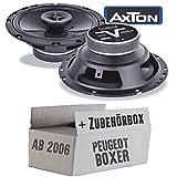 Peugeot Boxer 2 - Lautsprecher Boxen Axton AE652F | 16cm 2-Wege 160mm Koax Auto Einbauzubehör - Einbauset