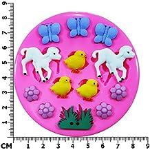 a XGLL home 3D Formenbau L/ämmer Schafe das Schaf Schokolade Fondant Kuchen DIY dekorative handgemachte Seife Silikonform Backen