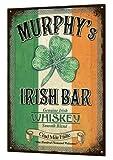 Murphys Irish Bar Large Tin Sign Metal Rustic Bar Luck Beer Pub Plaque Retro Enseigne en metal