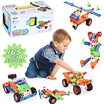 LUKAT Building STEM Learning Toy ,165 Pieces Educational ...