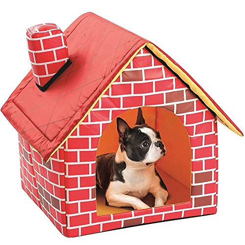 LJ Bequem Kreative Mode Haustier Liefert Kleines Einzelzimmer Kamin Haustier Nest Waschbare Katzentoilette Zwinger Zelt Grube (39 * 40,5 * 44cm)