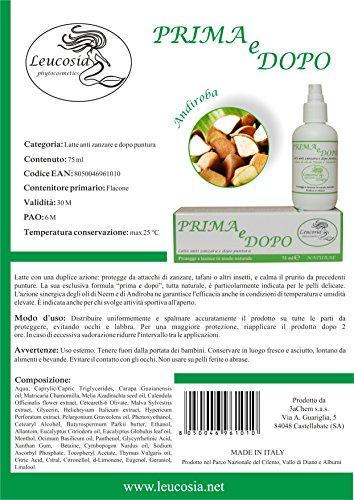 Prima e Dopo (Avant et Après) - Lait anti-moustique et après morsure - 75 ml - Protège contre les moustiques et calme le prurit des piqûres- Idéal pour la peau délicate