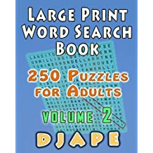 Large Print Word Search Book: 250 Puzzles for Adults: Volume 2