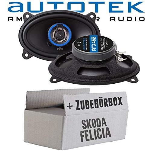 Lautsprecher Boxen Autotek ATX-462 | 2-Wege oval 10x15cm Koax Lautsprecher 4'x6' Auto Einbauzubehör - Einbauset für Skoda Felicia Heck - JUST SOUND best choice for caraudio