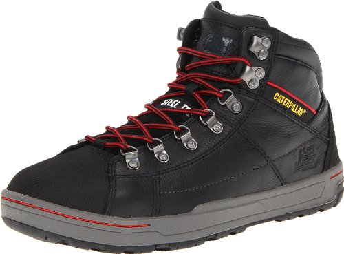 Caterpillar Men's Brode Hi Steel Toe Work Boot,Black,12 M US Black Steel Toe Work Boot