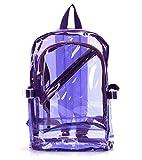 kangqi Fashion Sweety Mädchen mit Reißverschluss transparent klar Rucksack Kunststoff Tasche Schule Tasche Schultasche (lila)