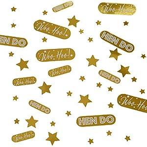 Neviti 776162 Woo Hoo - Confeti para despedida de soltera (5 x 5 x 0,1 cm), color dorado