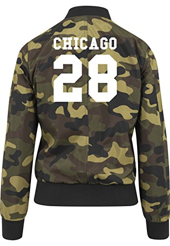 Chicago 28 Bomberjacke Girls Camouflage Certified Freak-S