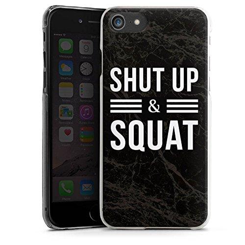 Apple iPhone X Silikon Hülle Case Schutzhülle Squat Fitness Statements Hard Case transparent