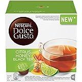 NESCAFÉ DOLCE GUSTO CITRUS HONEY BLACK TEA Tè al gusto di agrumi miele e zenzero 3 confezioni da 16 capsule (48 capsule)