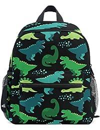 ISAOA 3D Printed Dino Scandinavian Style Kids Backpacks Kindergarten Preschool Toddler Boys/Girls Bookbag Cute Schoolbags for Age 2-8 Child