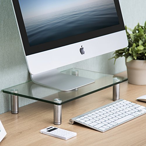 FITUEYES Glass Monitor Stand Des...