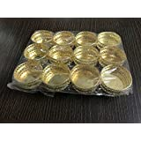 SPHINX® Small Golden Colored Tin Tea Light Candle Holders For Decoration/Crafts - Pack Of (12)