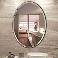 ADIYOGI INTERNATIONAL ADIYOGI_001 Oval Beveled Frameless Attractive Vanity/Exquisite Wall Mirror for Bathroom/Kitchen…