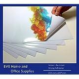 10x A4láser de vinilo imprimible resistente al agua hojas (PVC) color blanco brillante autoadhesivo adhesivo hojas calidad–FBA S & L