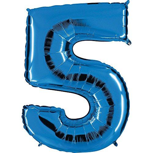 u - XXL Riesenzahl 100cm - für Geburtstag Jubiläum & Co - Fünf - Party Geschenk Dekoration Folienballon Luftballon Happy Birthday ()