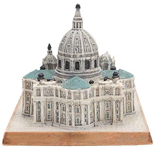 DECORATION Innendekoration, Wahrzeichen Architekturmodell Ornamente, Peterskirche, Vatikan, Dekorative Skulpturen, Touristische Souvenirs (9,7 X 13 X 8,8 cm)
