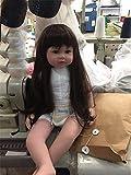 GAW Toys Silikon wiedergeboren Baby Doll Spielzeug 22 inch mit Langen Haaren Realistisch Baby Dolls 100% Handmade Girl Reborn Kids Girls Holiday Wedding Reduce Angst Hilfe Autismus Schwangere Frauen