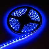 5M Home Car Waterproof Flexible 3528 SMD LED Soft Strip Light 300 LED.Ideal For Gardens, Homes, Kitchen, Under Cabinet, Aquariums, Cars, Bar, Moon, DIY Party Decoration Lighting. (5m-blue)