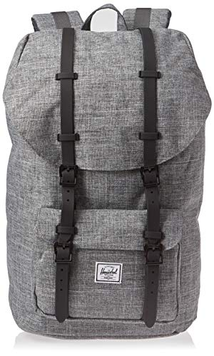 Herschel Supply Co. Rucksack Little America, Raven Crosshatch/Black Rubber (grau) - 10014-01132-OS