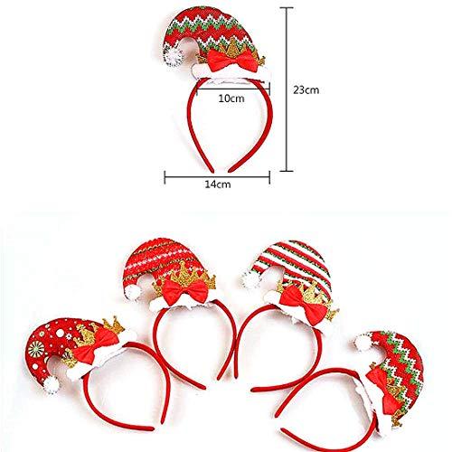 (Christmas Elf Hat Stirnband Santa Hat Stirnband für Kinder Erwachsene Sankt Helfer Stirnband Partei Zubehör-Schneeflocke)