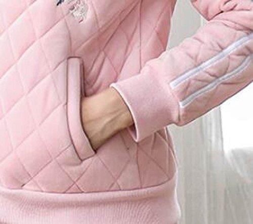 Pigiama Flanella Donna Pigiama Invernale Caldo Pigiama Morbido Accogliente Manica Lunga PJs Pettorina Lunga E Bottom Pigiama Da Notte Pigiama Casual Pink