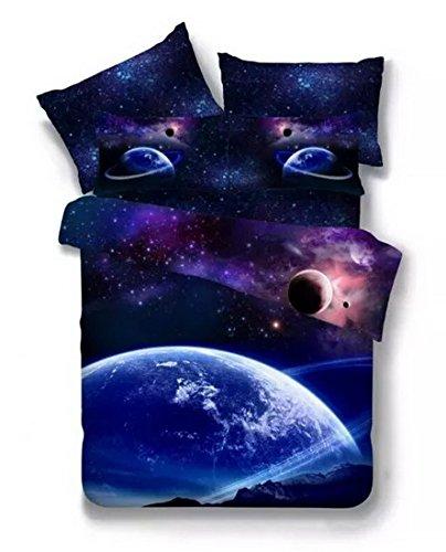 3D Bedruckte Steppdecke Bettbezug Kissenbezüge Spannbetttuch Geheimnisvolle Boundless Galaxy Red Sky Starry Night Betten Sets, Style 11, 3PCS:160-210cm - 11 Stück, Super Betten
