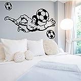 Sprots Joueur De Football sticker mural Décoration De Chambre Pour Chambres...