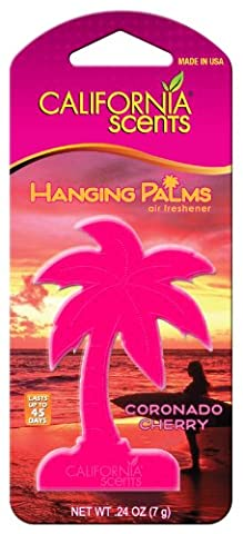 California Scents HP-607 Coranado Cherry Hanging Palm Air Freshners, Set