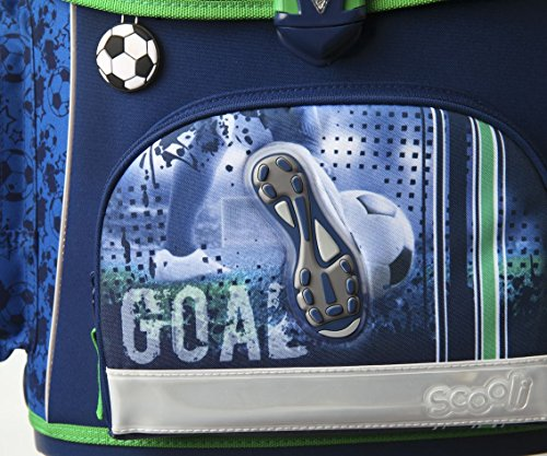Fußball Schulranzen Set 10tlg. Sporttasche, Schultüte 85cm, Federmappe, Regen/Sicherheitshülle gelb Scooli FCPR8251 - 4