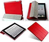 "Invision® iPad 2 3 & 4 Smart Case Cover - Front and Back Protection With Magnetic Auto Wake/Sleep Function - Superior Design Features - Premium Quality PU Leather With Microfiber Inner Lining - Independently Recommended by ""Which?"" Magazine (iPad 2 3 4 Cover Red)"