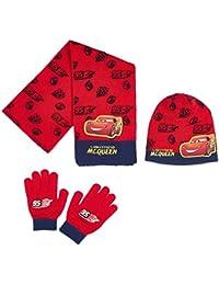 Echarpe, bonnet et gants enfant garçon Cars Rouge de 3 à 9ans